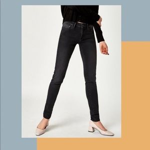 Mavi Alissa High-Rise Super Skinny Black Jeans